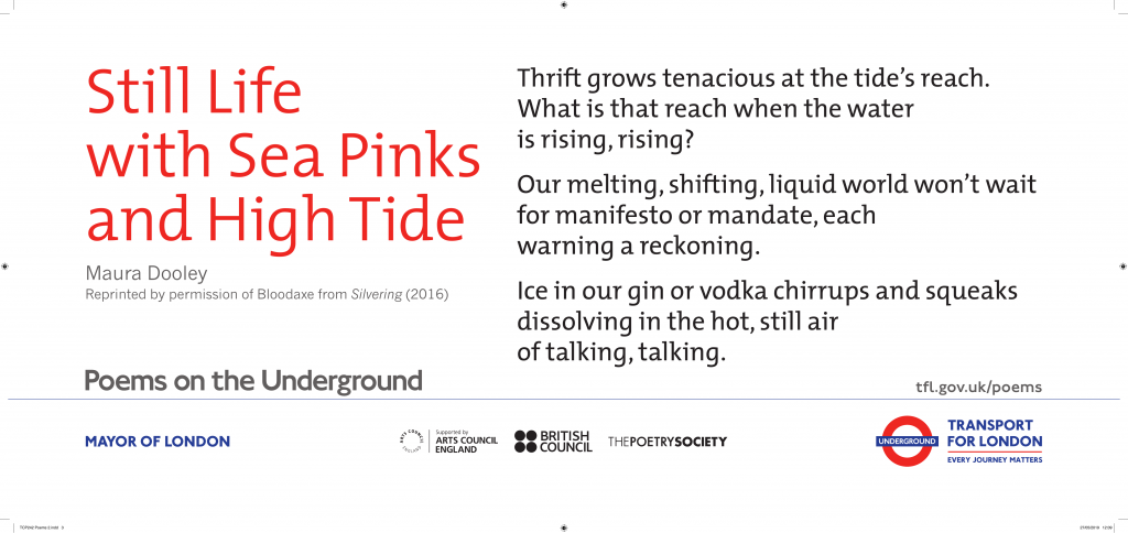 Still Life with Sea Pinks and High Tide, Maura Dooley 'Thrift grows tenacious at the tide's reach. What is that reach when the water is rising, rising?'