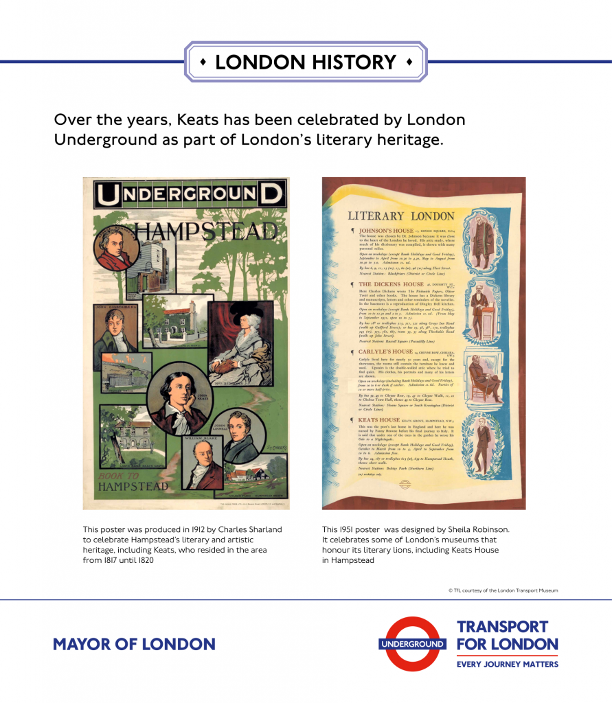Keats Bicentenary Display London Underground Posters